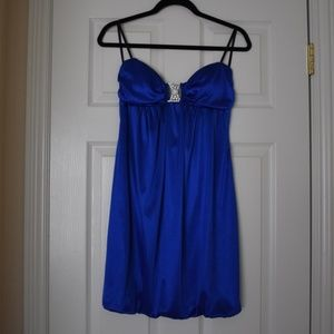 Deep Blue Dress with Sparkles (size XL)